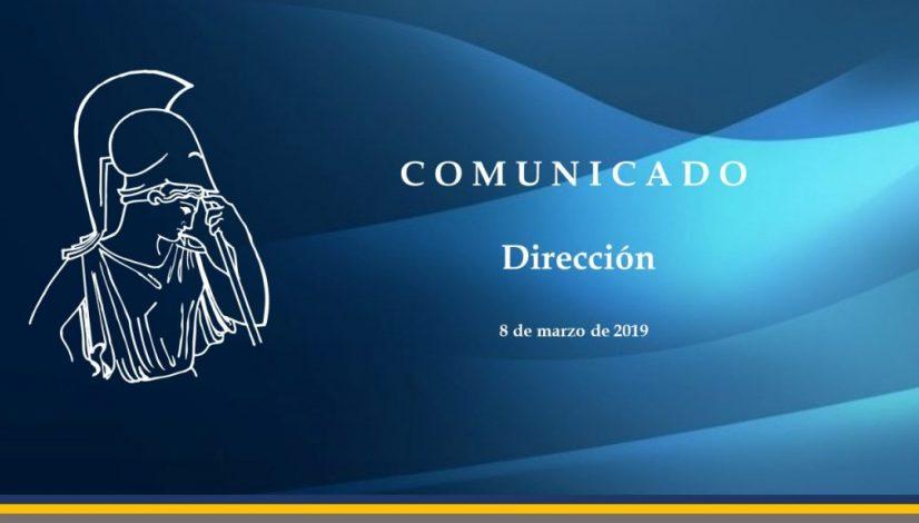 comunicado Dirección080319
