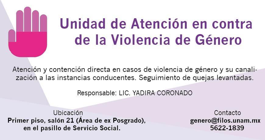 Unidad de Atención en contra de la Violencia de Género