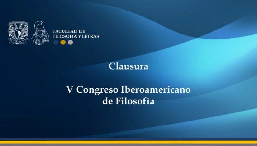 clausura V congreso