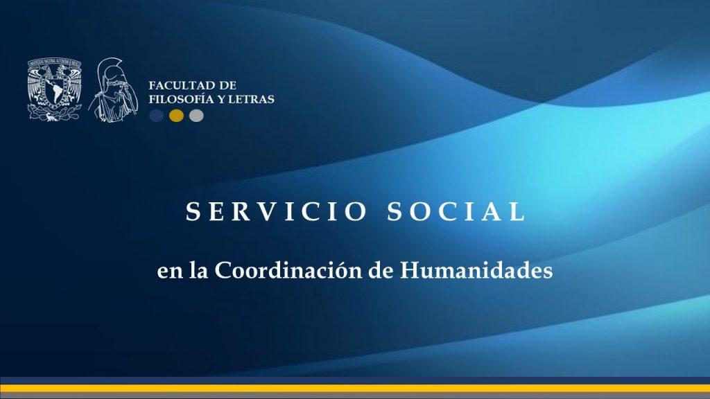 Servicio social en Humanidades