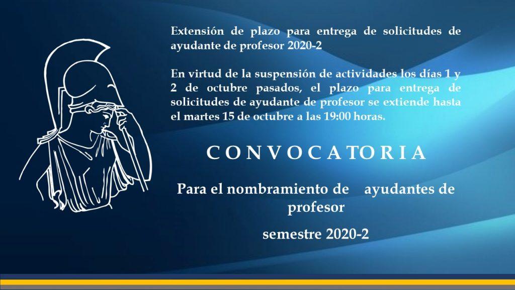 plazo-ayudante de profesor 2020-2
