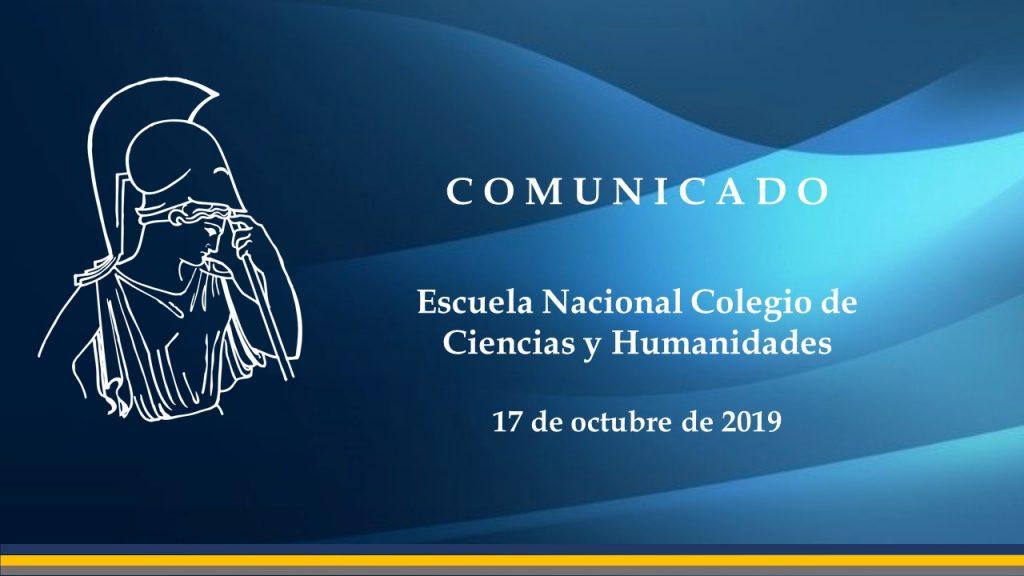 Comunicado CCH-17102019