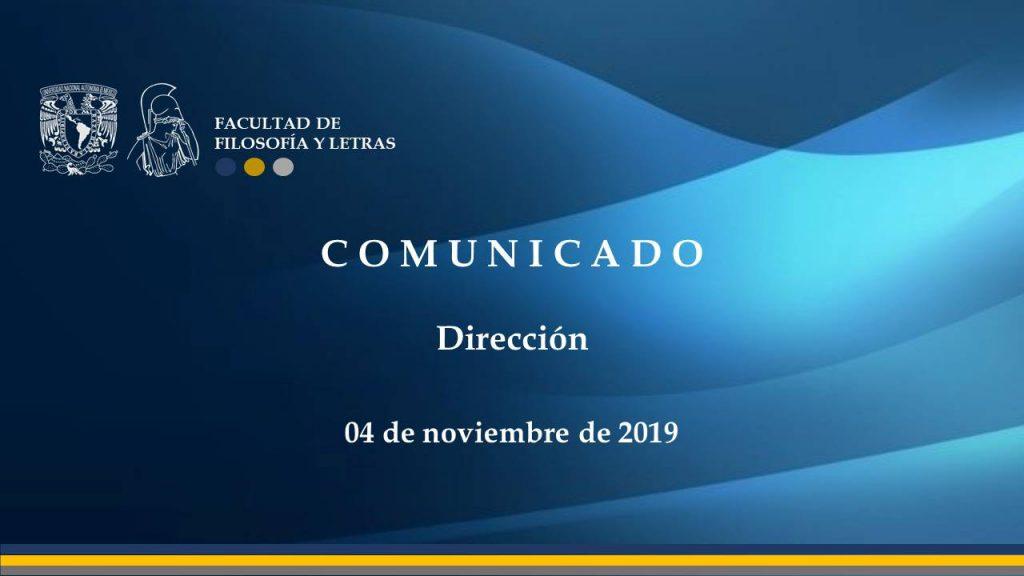 Comunicado Direccion 04112019