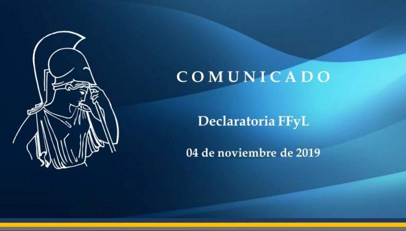 Declaratoria FFyL 04112019