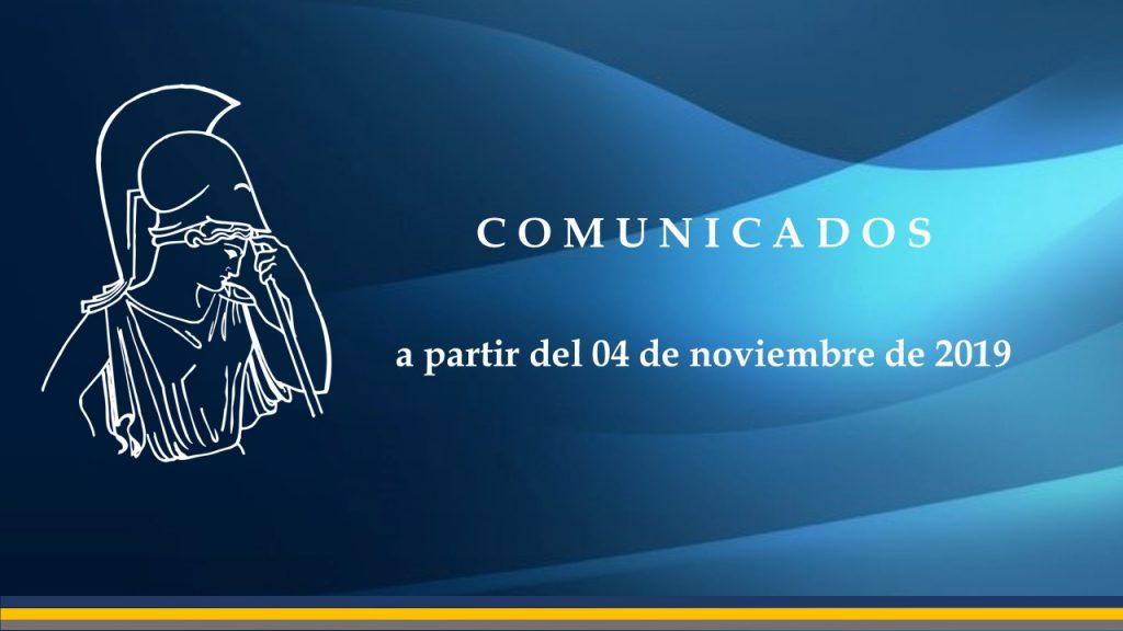 Comunicados desde 04112019