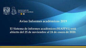 informes academicos 2019