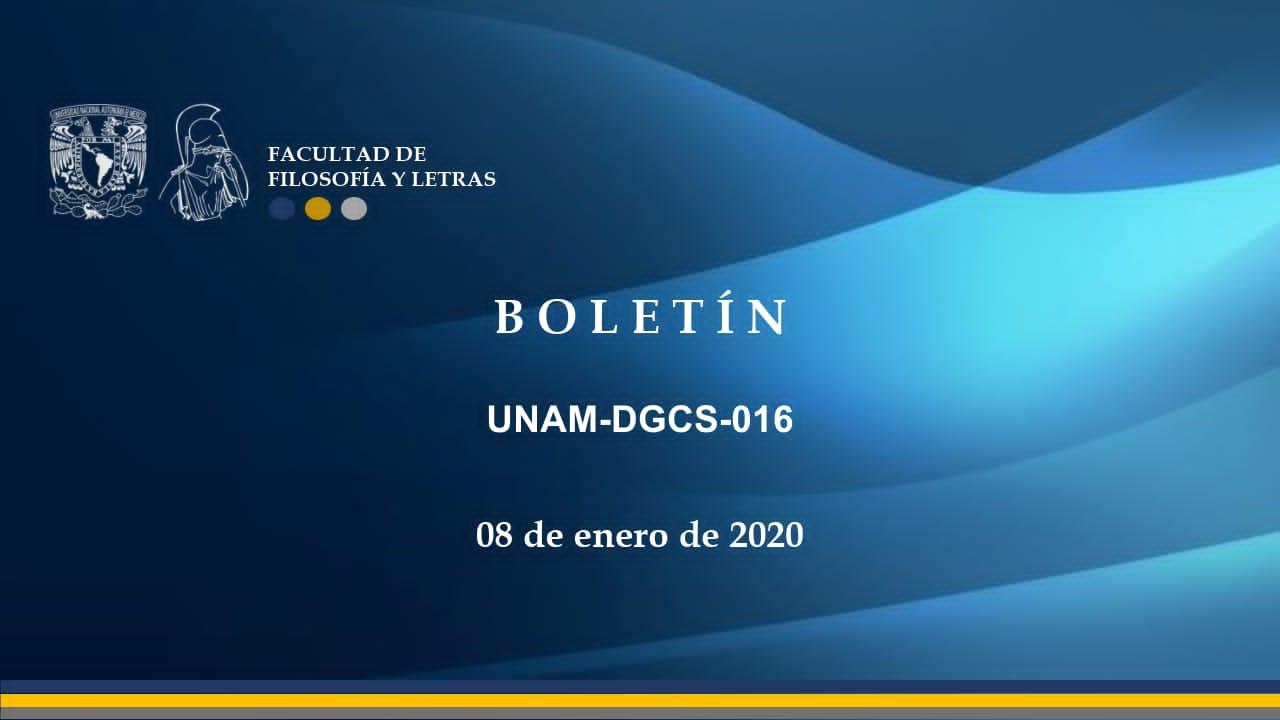Boletín UNAM-DGCS-016