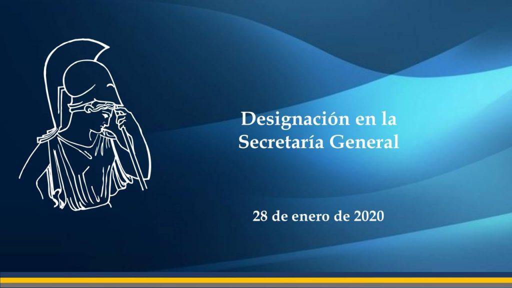 designacion secretaria general