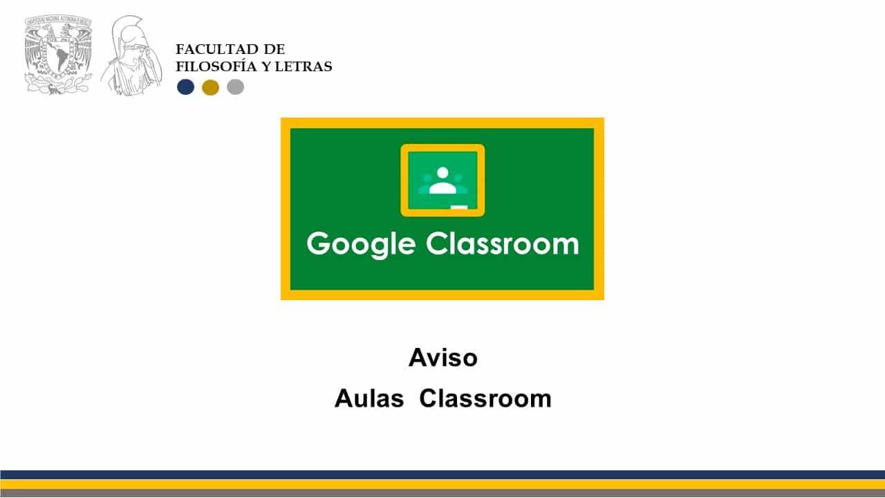 aviso de aulas classroom