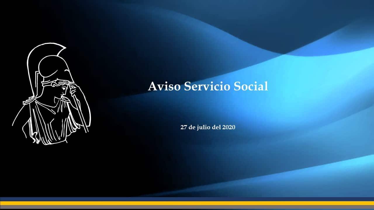 aviso servicio social