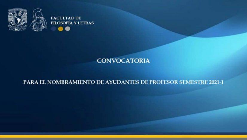 Convocatoria Ayudantes 2021-1