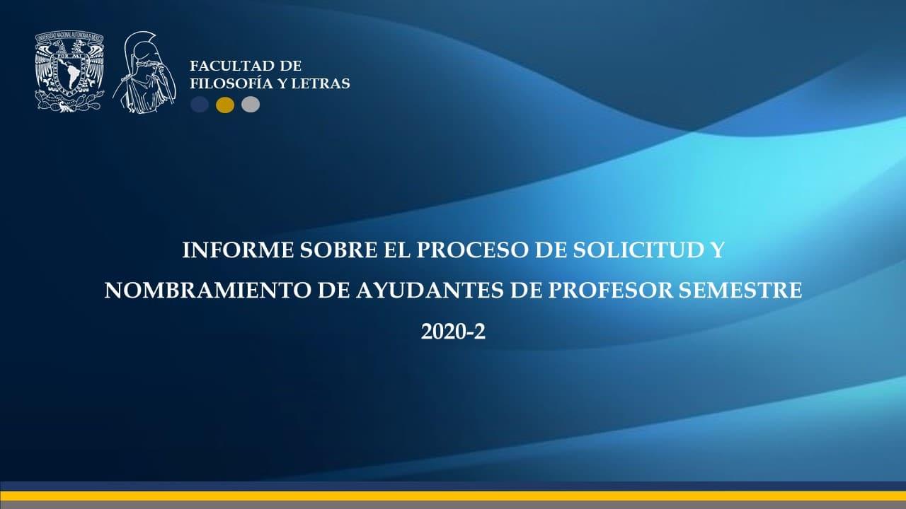 INFORME AYUDANTES DE PROFESOR 2020 2
