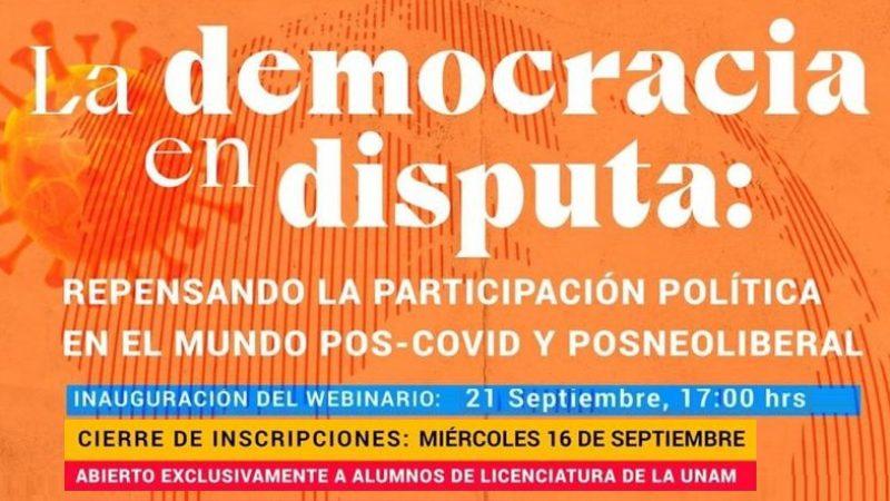 Banner La democracia