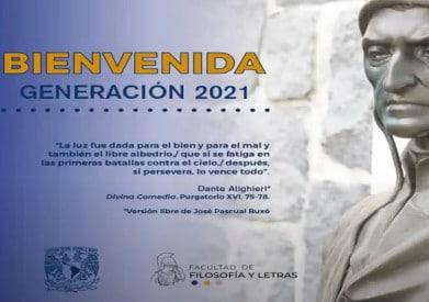 BIENVENIDA FFyL GENERACIÓN 2021