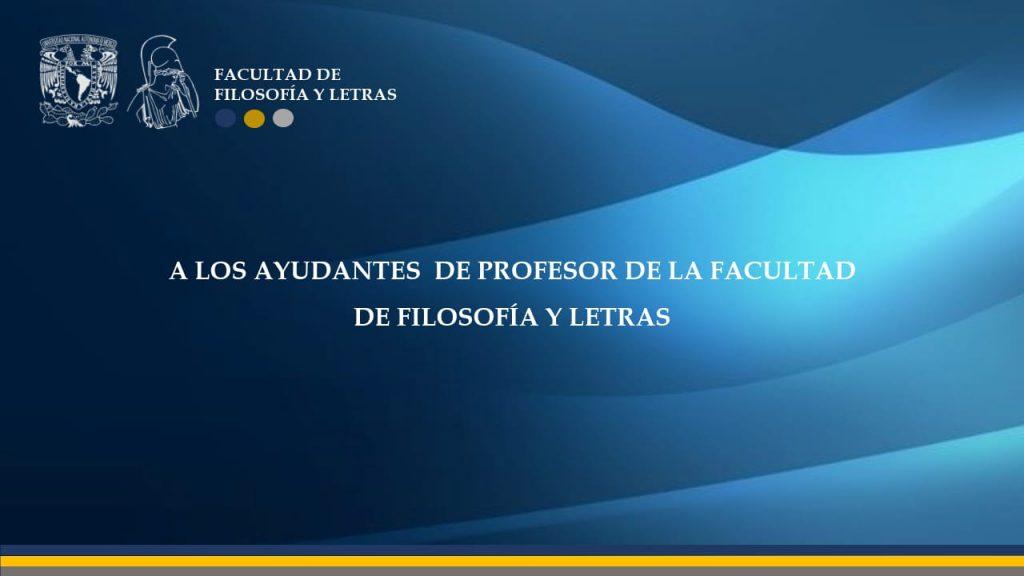 Ayudantes profesor