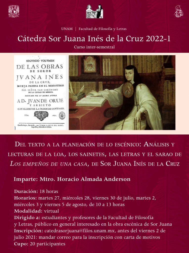 Curso inter-semestral Cátedra Extraordinaria Sor Juana Inés de la Cruz
