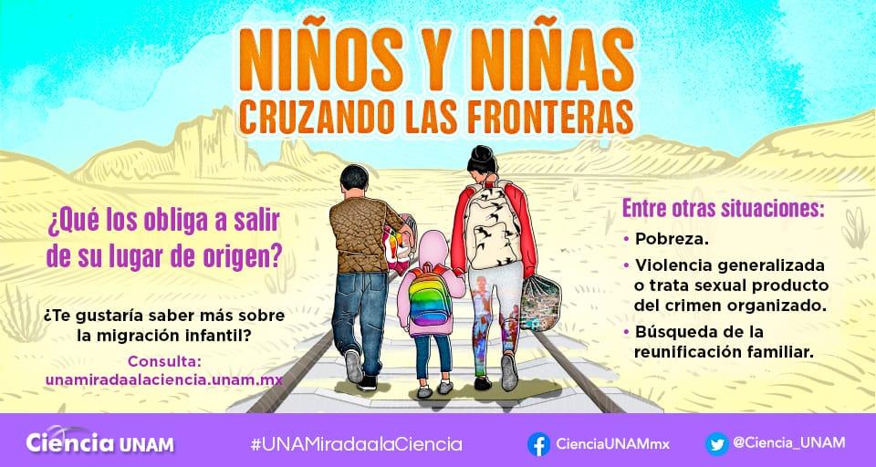 Niños y niñas cruzando fronteras