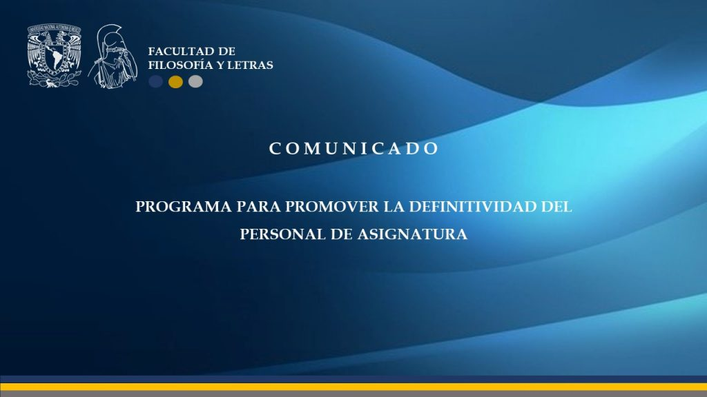 Programa Definitividad Personal de Asignatura