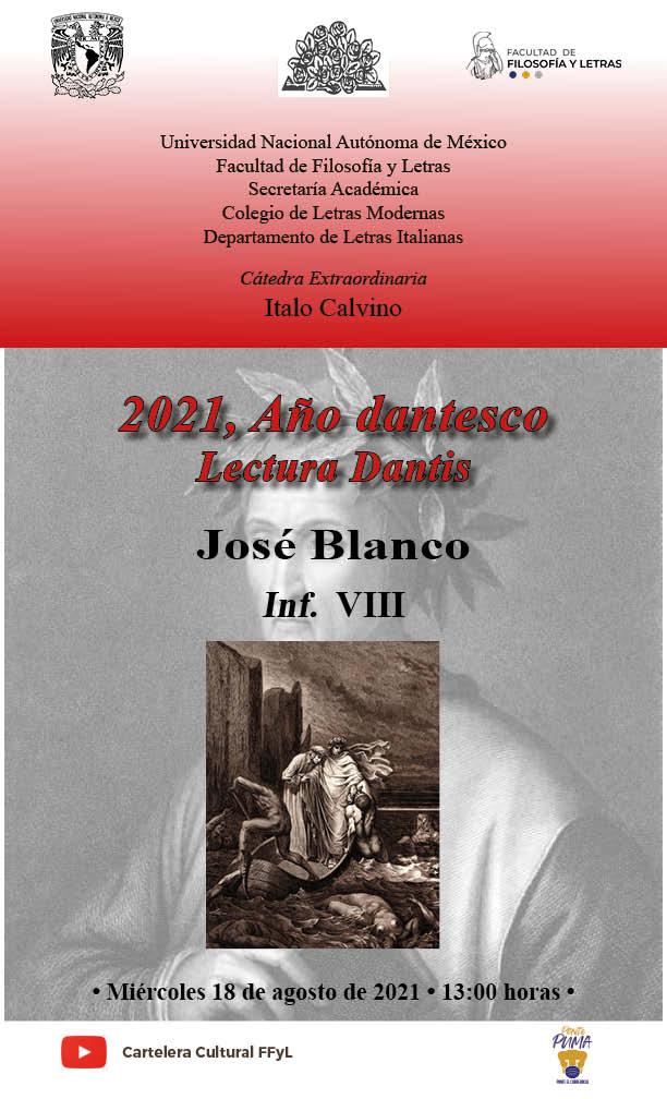 Lectura a cargo de José Blanco